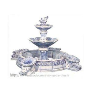 Fontaine bleue - avec pompe-424
