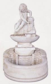 Bassin - petite fontaine coque et enfant