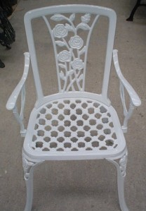 Chaise Roses avec accoudoirs