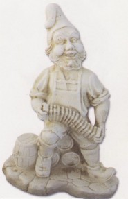 Nain avec accordéon