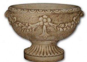 Vase ovale fleuri