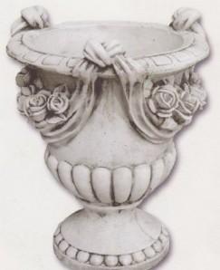 Vase drapé avec roses - grand