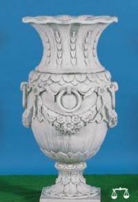 Vase fleurs avec anneaux