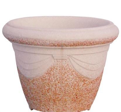 Vase rond drapé - projeté - grand